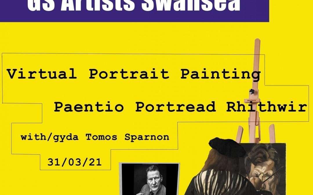 Virtual Portrait Painting with Tomos Sparnon / Paentio Portread Rhithwir gyda Tomos Sparnon